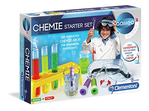 Clementoni 69175 Galileo Science – Chemie Starter-Set, farbenfroher Experimentierkasten mit Experimenten...