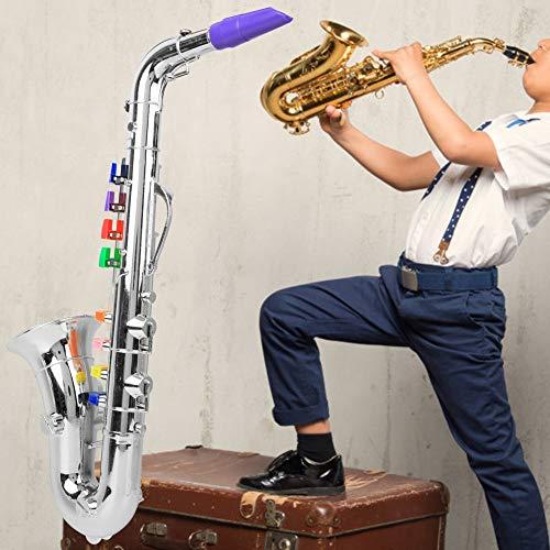 Saxophon Modell Musikinstrument S-Saxophon Kinderspielzeug Saxophon Kunststoff Saxophon 8-Tasten...