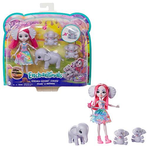 Enchantimals GTM30 - Elefantenfamilie Spielset und Puppen, Spielzeug...