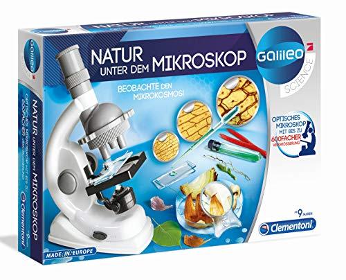 Clementoni 69804 Galileo Science – Natur unter dem Mikroskop, spannendes Biologie-Labor für kleine...