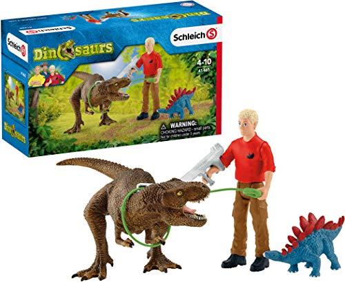 Schleich 41465 Dinosaurs Spielset - Tyrannosaurus Rex Angriff,...