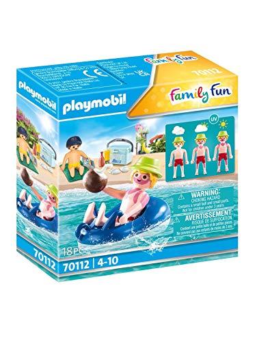 PLAYMOBIL Family Fun 70112 Badegast mit Schwimmreifen, Schwimmfähig,...