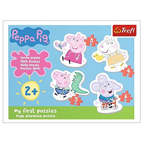 Trefl TR36086 Die reizende Wutz, Peppa Pig von 3 bis 6 Teilen, 4 Sets,...