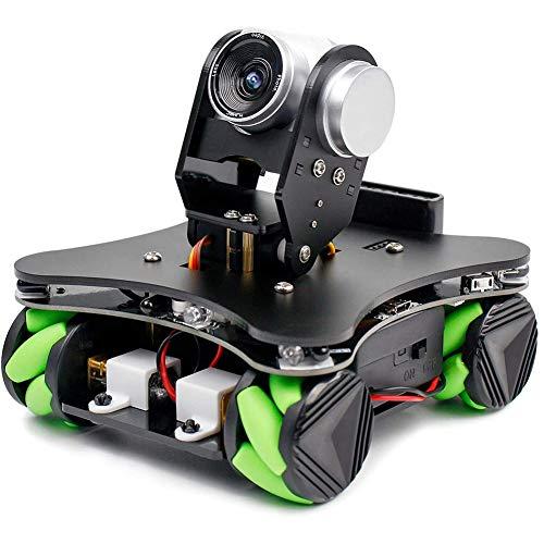 Nrpfell Robot Kit für R3 mit FPV Kamera, Codierung Mecanum Wheel DIY...