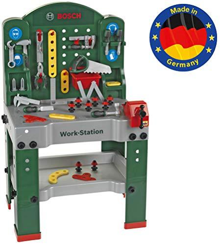 Theo Klein 8580 Nein Bosch Work-Station teilig I Werkbank inkl. Arbeitssplatte mit Lernfunktion I Maße: 61 cm...