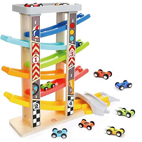 TOP BRIGHT Spielzeug-Autos für 1 2 3-Jährige - Autostrecke-Set für...