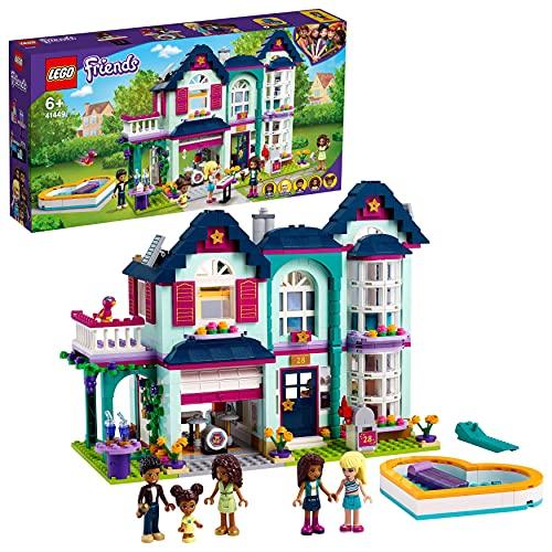 LEGO 41449 Friends Andreas Haus Set, Puppenhaus für Mini Puppen mit...