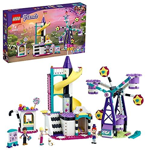 LEGO 41689 Friends Magisches Riesenrad mit Rutsche, Freizeitpark mit...