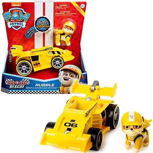 PAW Patrol Rubbles Race & Go Deluxe Basis Fahrzeug mit Figur (Ready,...