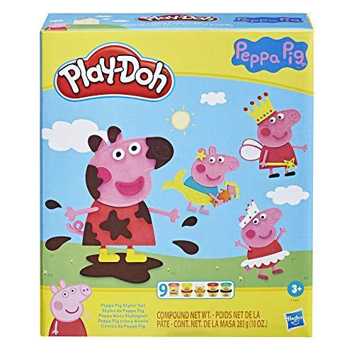 Play-Doh F1497 Peppa Wutz Stylingset mit 9 Dosen und 11 Accessoires,...