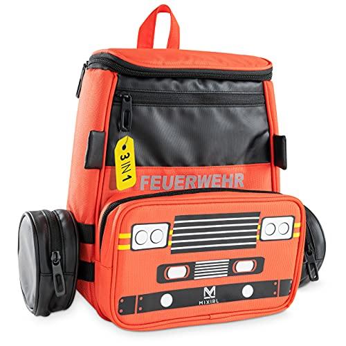 MIXIRL® 3in1 Kindergartenrucksack mit Federmäppchen Jungen   3-7...