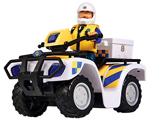 Simba 109251093 - Feuerwehrmann Sam Polizei Quad, mit Malcolm Figur,...