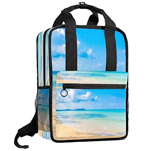 KAMEARI Rucksack College Bookbags Schultertasche Bookbags Beach Sky...