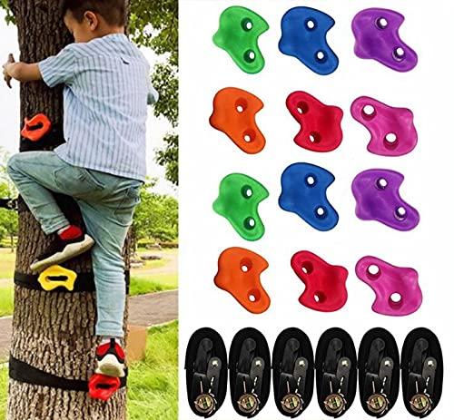 scosao klettergriffe Baum 12 Ninja Tree Climbing Klettersteine und 6...