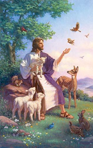 yanboVIP Kreuzworträtsel Bücher für Erwachsene Religiöse Figur Gott Jesus Erwachsene Puzzle 1000 Stück...