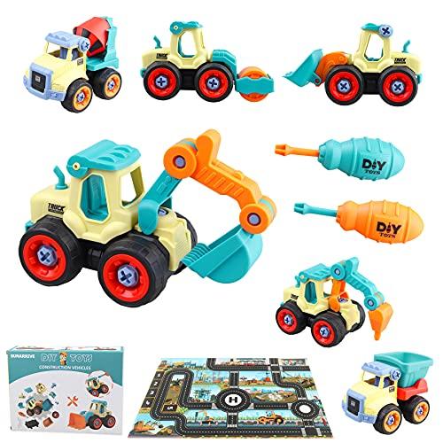 Sunarrive Baustelle Bagger Spielzeug - Montage Spielzeug Auto -...