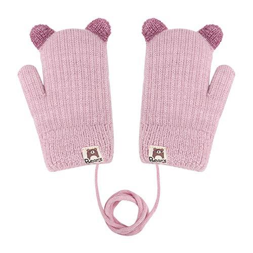 Süße Fäustlinge Baby 1 2 3 jahr Cartoon Handschuhe Skihandschuhe mit Schnur Arbeitshandschuhe kinder...