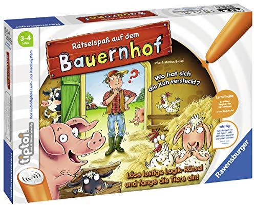Ravensburger tiptoi Spiel 00830 Rätselspaß auf dem Bauernhof -...