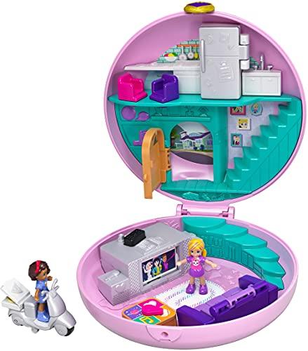 Polly Pocket GDK82 Pyjamaparty Schatulle Donut Wohnzimmer mit Polly...
