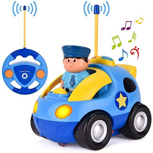 OCDAY Ferngesteuertes Auto Spielzeugauto für Kleinkinder Polizeiauto ab 2 Jahren mit Lichtern und Sound,...