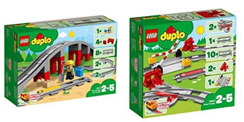 Lego Duplo 2er Set: 10872 Eisenbahnbrücke und Schienen + 10882...