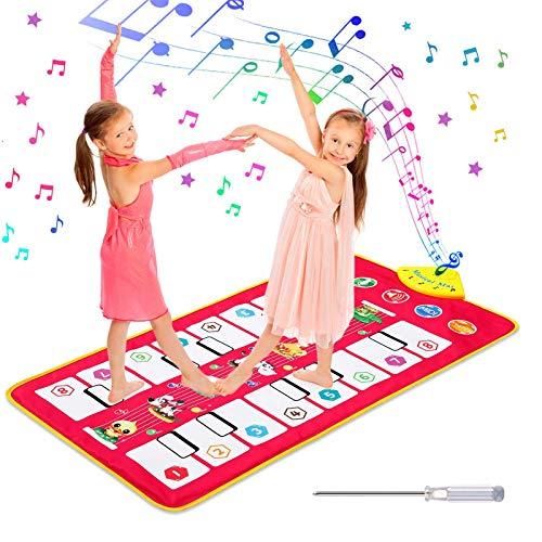 Homealexa Klaviermatte Kinder Piano Mat Tanzmatten Musikmatte mit 7...
