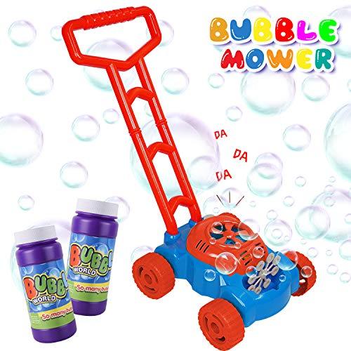 AOLUXLM Rasenmäher Kinder Seifenblasen Spielzeug für Kinder Draußen...
