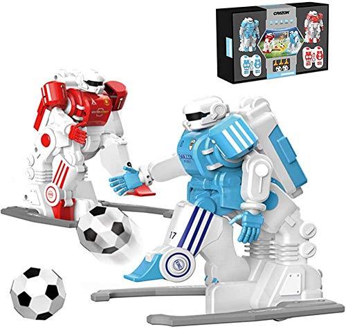 DINEGG Doppellade Fußball-Roboter Intelligente Fernbedienung Battle Robot Puzzle Kinder Spielzeug QQQNE