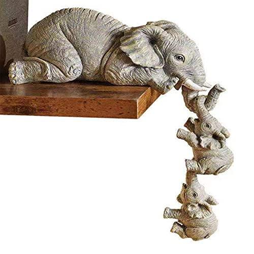 Elefanten Figuren Deko Resin Elephant Sitter Statue Skulptur Ornament...