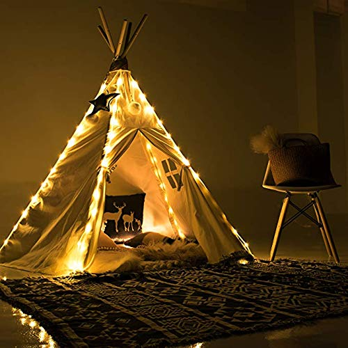 Led Lichterkette für Tipi Zelt, 4 X Kette Kinder Teepee Spielzelt Lights Dekorativ, Fairy Lights for Teepee...