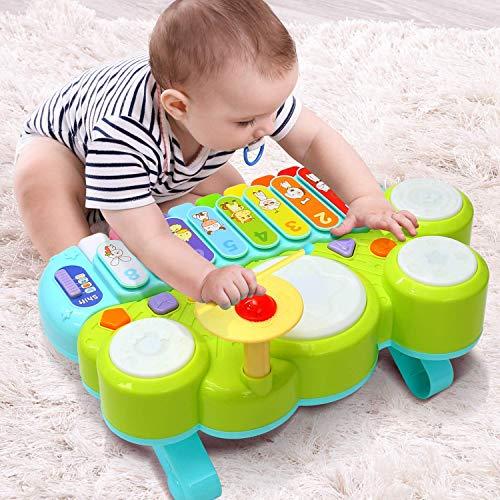 Ohuhu Babyspielzeug Klavier und Trommel Musikspielzeug für Baby und...