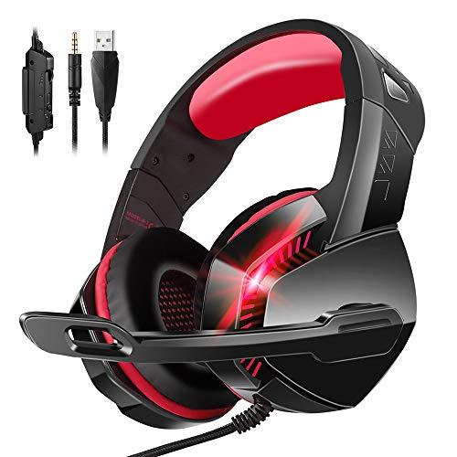 PHOINIKAS Gaming Headset für PS4, Xbox One, Laptop, Wired Gaming Headset für 3,5 MM Geräte mit Noise...