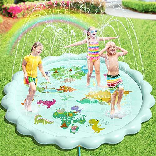 Peradix Sprinkler Play Matte, 200CM Wasser-Spielmatte Sprinkler Kinder...
