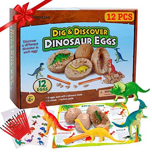 12 Stück Dinosaurier Eier Party Supplies Spielzeug, Dino Eier Dig...