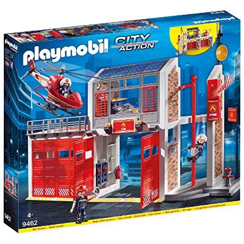 Playmobil 9462 - City Action Große Feuerwache mit Soundeffekten, Ab 4...