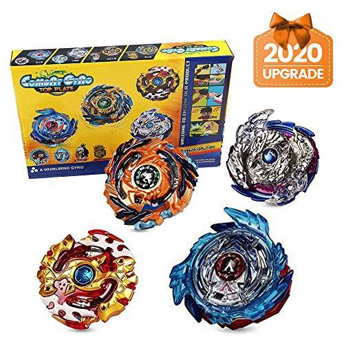 Innoo Tech 4 Stück Kampfkreisel Set, 4D Fusion Modell Metall Masters Beschleunigungslauncher, Speed Kreisel,...