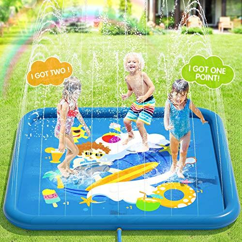 Peradix Splash Pad,170CM Sprinkler Wasser-Spielmatte...