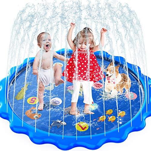 MOZOOSON Splash Pad, 170CM Wasserspielzeug Kinder Spielzeug für...