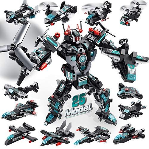 LUKAT Roboter Bausteine Spielzeug ab 6 7 8 9 10 Jahre für Jungen,...