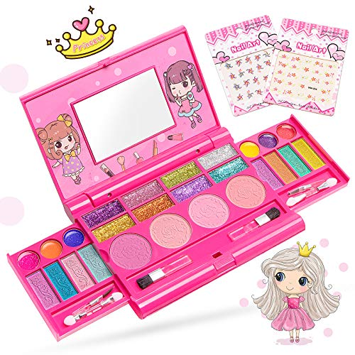 Pickwoo Kinderschminke Set Mädchen, Waschbar sicher ungiftig- Makeup...