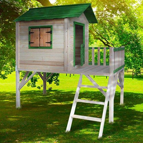 BRAST Spielhaus für Kinder mit Balkon Stelzenhaus Adventure...