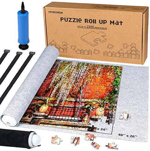 MOZOOSON Puzzlematte für BIS 1500 Puzzle Teile Puzzle Pad Puzzleunterlage Puzzlerolle Puzzleteppich...