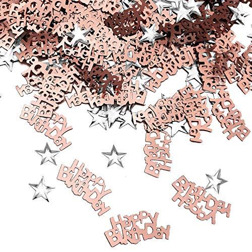 iZoeL Happy Birthday Geburtstag Konfetti 20g Sterne Konfetti 10g Tisch...