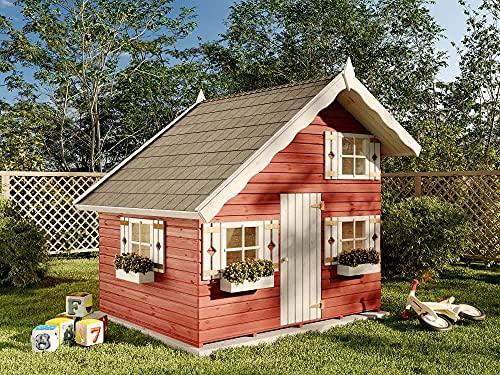 Kibungi Spielhaus Lykke inklusive Montagematerial aus Holz