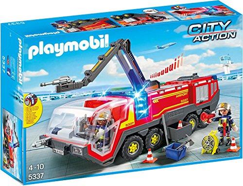 PLAYMOBIL City Action 5337 Flughafenlöschfahrzeug mit Licht und...