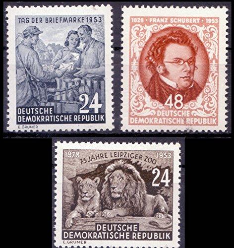 philaseum Briefmarken DDR 1953, Lot aus Mi.Nr. 396-397, 404,...
