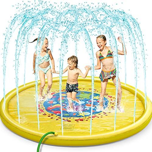 Jojoin 170CM Splash Pad & Spielzeug Sprinkler Play Matte,...