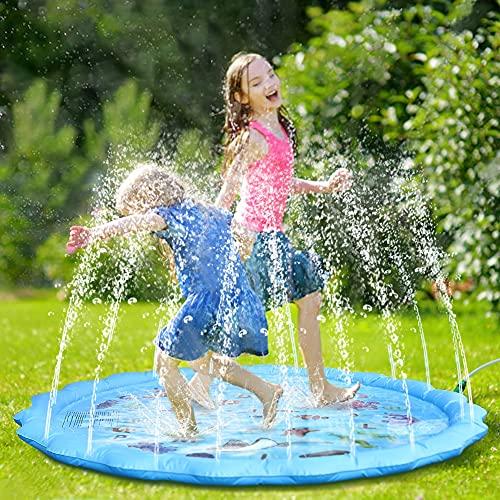 Fostoy Splash Pad, 68' Große Wasserspielmatte Sprinkler...