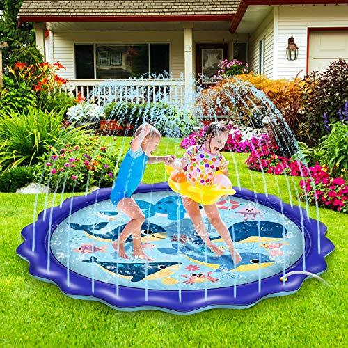 BASEIN Splash Pad, 170cm Splash Play Matte Sprinkler Wasser-Spielmatte...