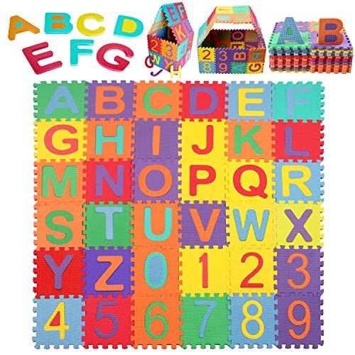 Schutzmatte, StillCool Puzzlematte Kinder Lernteppich mit Buchstaben...